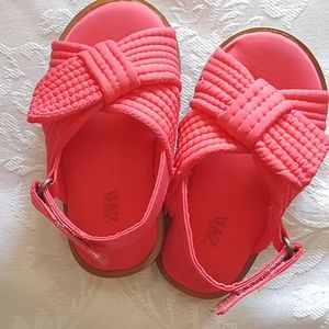 ZARA baby sandals in Coral/red size 19 (6-12 month
